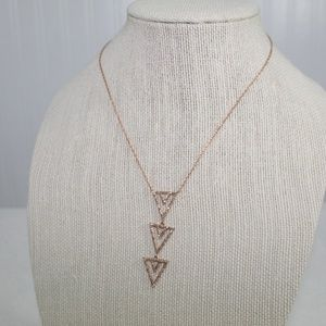 Stella and Dot Rose Gold Pave Spear Necklace